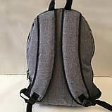 Рюкзак молодежный FILA  городской мужской с кожаными вставками., фото 3