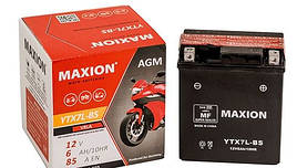 Мото аккумулятор MOTO 12N 9-3B MAXION(12V, 9A)