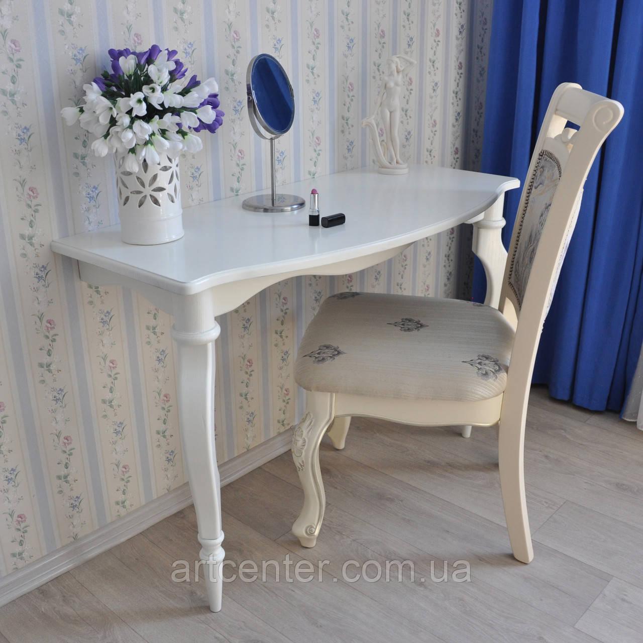 """Приставной столик на точеных ножках, консоль""""Прованс"""", белый"""