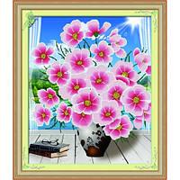 """""""Утренние цветы"""" Набор для рисования стразами"""