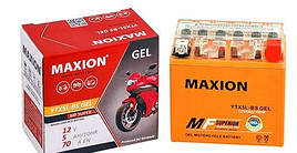 Мото аккумулятор MOTO 6-DZM-12 MAXION AGM  (12V,12A)