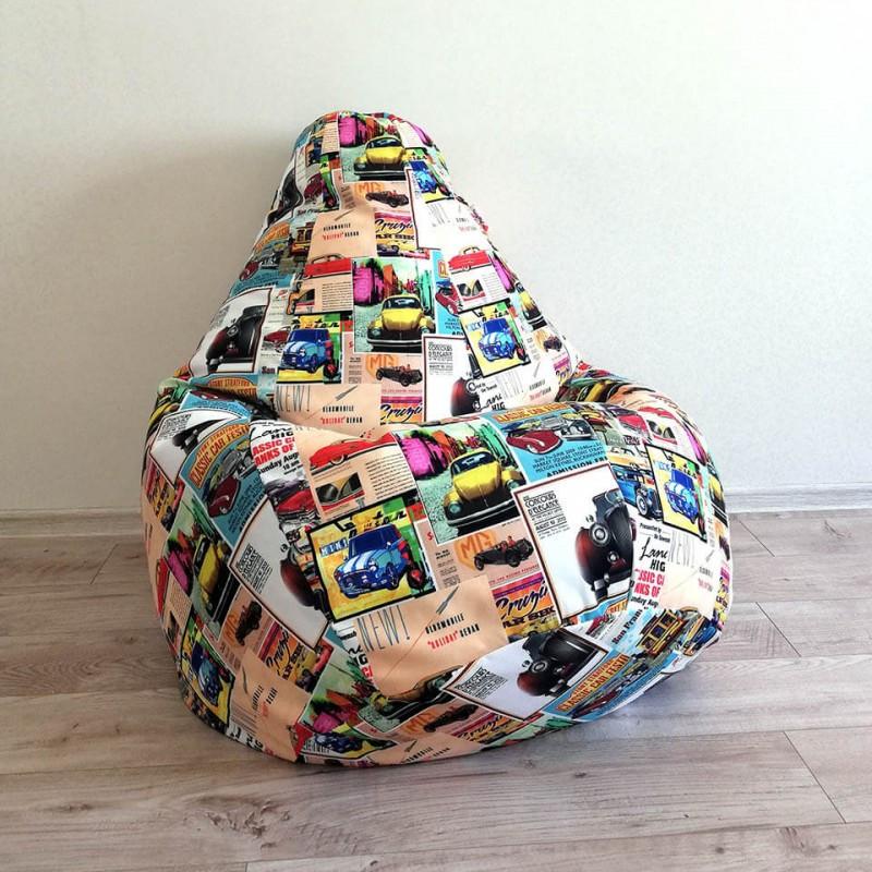 "Кресло-мешок KatyPuf ""Cars"" Коттон"