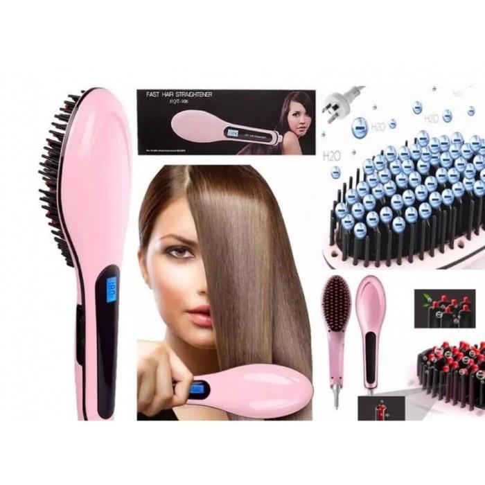 Электрическая расческа-выпрямитель / Гребінець-випрямляч Fast Hair Straightener HQT-906 (Реплика)