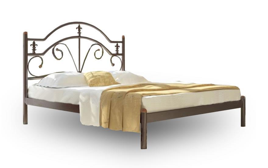 Кровать Металл-Дизайн Диана Коричневый