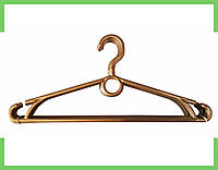 Вешалка плечики пластмассовые для одежды кольцо-Польша 40 см (Золотистая)