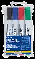 Набор маркеров для сухостираемых досок Buromax Jobmax 4 шт