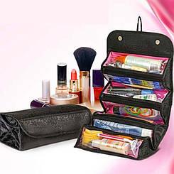 Косметичка Roll N Go Cosmetic Bag | Органайзер для косметики / Черная
