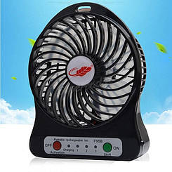 Мини вентилятор с аккумулятором Міні вентилятор з акумулятором Mini fan (Черный)
