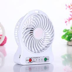 Мини вентилятор с аккумулятором Міні вентилятор з акумулятором Mini fan (Белый)