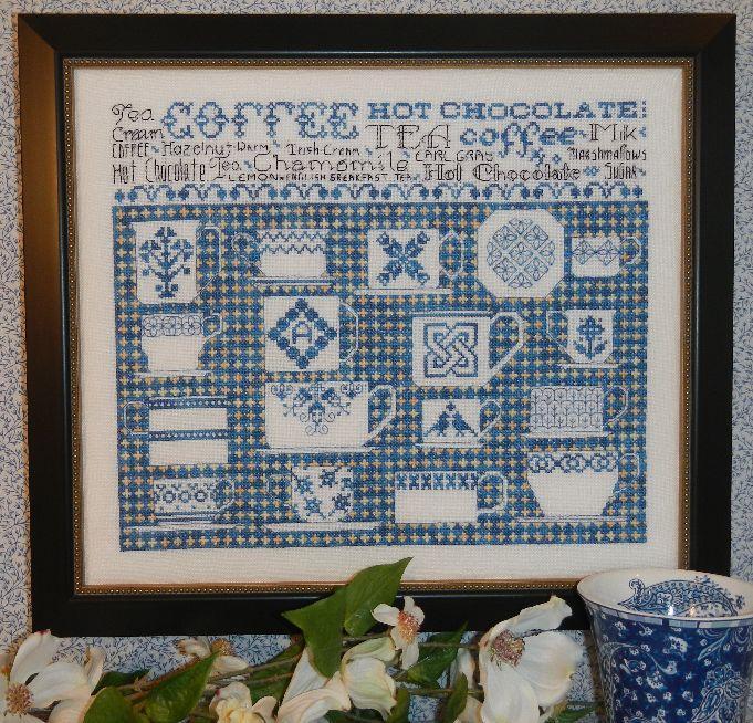 Схема для вышивки Rosewood Manor China Blue Sampler