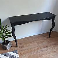 Приставной консольный столик черного цвета