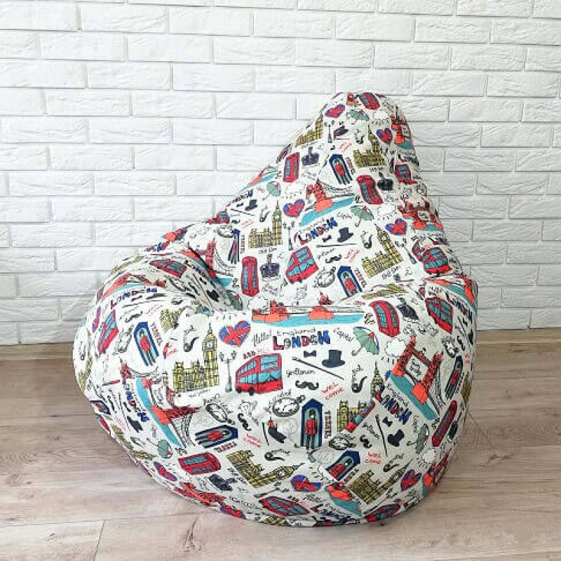"Кресло-мешок KatyPuf ""London"" Коттон"