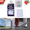 Москитная сетка на окно с лентой для крепления Unibob   белая мелкоячеистая антимоскитная сетка Юнибоб, фото 2