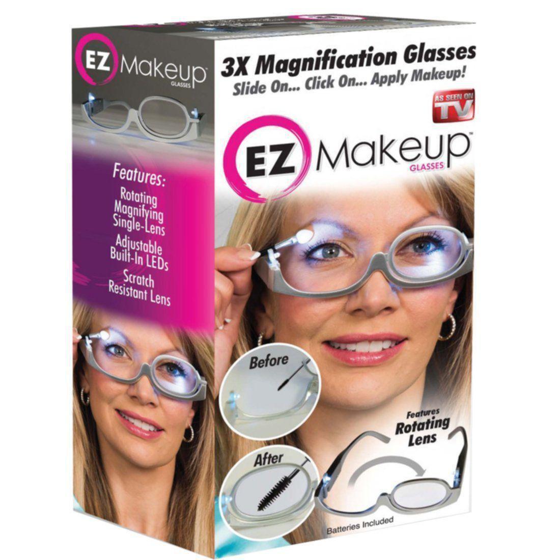 Очки для нанесения макияжа с подсветкой/Окуляри для нанесення макіяжу з підсві 3X Magnification makeup glasses