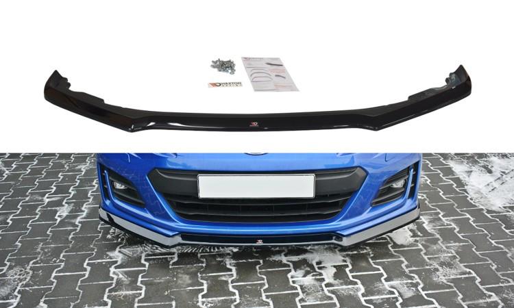 Диффузор переднего бампера губа элерон накладки тюнинг Subaru BRZ Тип 2
