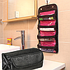 Органайзер для хранения косметики черного цвета | Косметичка Roll N Go Cosmetic Bag, фото 6