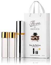 Туалетная вода женская Gucci Flora by Gucci edt 3X15 ml, Подарочная упаковка!