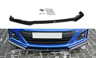 Диффузор переднего бампера губа элерон накладки тюнинг Subaru BRZ Тип 1