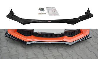 Сплиттер Toyota GT86 тюнинг элерон переднего бампера (V2)