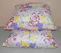 Подушка для сна 70х70 см наполнитель холофайбер ткань хлопок тик антиалергенная (Х-435)