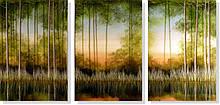 Репродукция модульной картины триптих «Рефлексия»