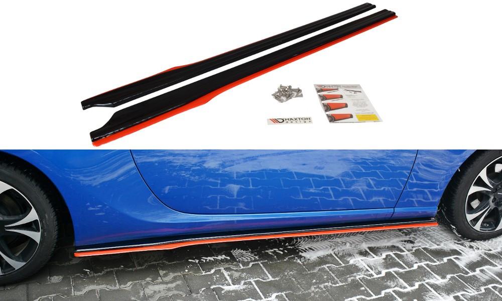 Диффузоры порогов юбка элерон накладки тюнинг Toyota GT86 с красной полосой
