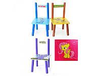 Детский деревянный стульчик M 2288, 4 вида