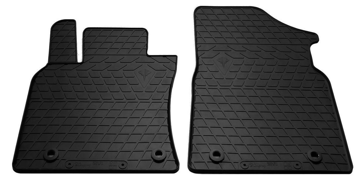 Коврики в салон резиновые передние для Lexus ES 2018- Stingray (2шт)