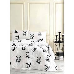 Покрывало детское 160х220 с наволочкой на кровать, диван Панда