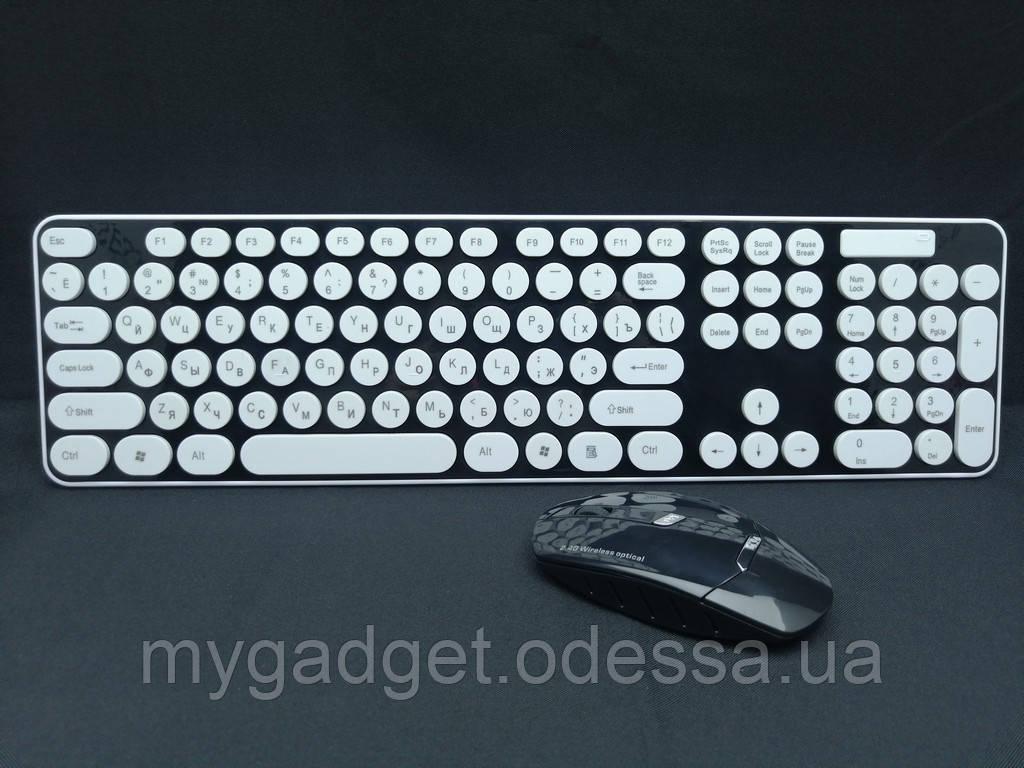 Комплект бездротова клавіатура + миша HK3960 + подарунок
