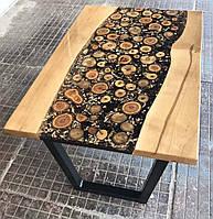 Стол с эпоксидной смолой Stump