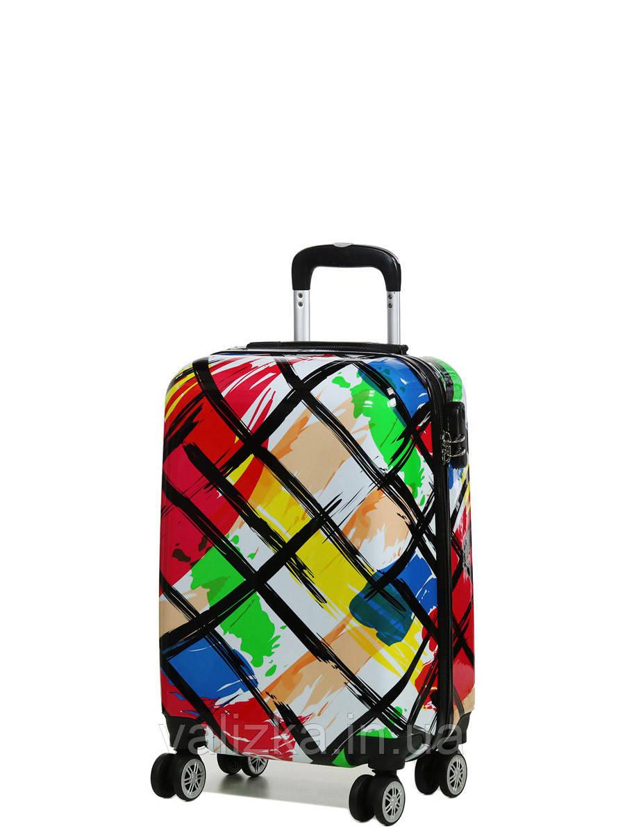 Чемодан пластиковый малый  из поликарбоната чемодан для  ручной клади Madisson с принтом