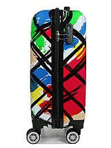 Чемодан пластиковый малый  из поликарбоната чемодан для  ручной клади Madisson с принтом , фото 3