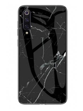 Чохол-накладка NZY для Xiaomi Mi 9 SE TPU+Glass Luxury Marble Чорний (972928), фото 2
