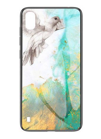 Чохол-накладка NZY для Samsung Galaxy A10/ A105F TPU+Glass Luxury Marble Голуб (972577), фото 2