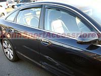 Ветровики на Ауди / Audi - А6 2004-2011 Седан Хик накладные