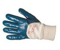 Перчатки нитрильные синие МБС (Вязаный манжет)