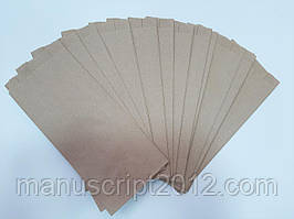 Пакет паперовий саше крафт 98*205*40 мм.