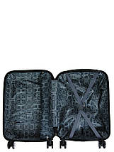Чемодан пластиковый малый  из поликарбоната чемодан для  ручной клади Madisson с принтом love, фото 3