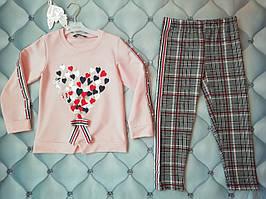 Стильный костюм для девочки р. 104 (4 года) Сердечки, Турция