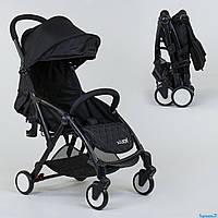Коляска прогулочная детская W 1140 YO-YA JOY чёрная, фото 1