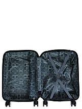 Чемодан пластиковый малый  из поликарбоната чемодан для  ручной клади Madisson с принтом ромбик , фото 2