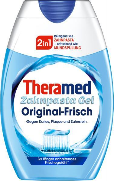 Зубна паста гель + ополіскувач Theramed 2in1 original - frisch 75 ml