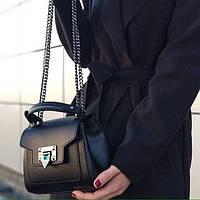 Черная Женская кожаная сумка Клатч  кожаный Итальянский в черном цвете , фото 1