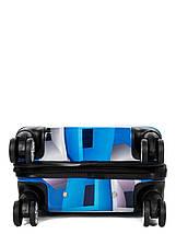 Чемодан пластиковый малый  из поликарбоната чемодан для  ручной клади Madisson с принтом квадраты , фото 2