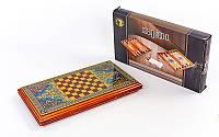 Шахматы, нарды 2 в 1 Премиум набор настольных игр деревянные BAKU XLY740-B 42см x 46см