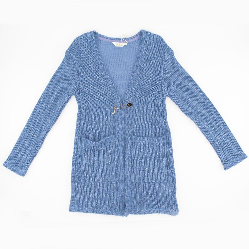 Кардиган для девочек Deloras 140  голубой 29656