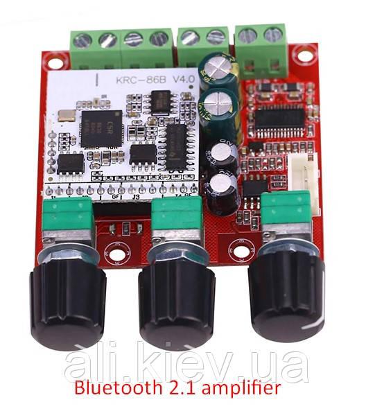Hi-fi Bluetooth усилитель звука 2,1 2*15Вт 1*30Вт TPA3110 8-26V 4-8Ohm
