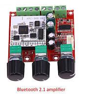 Hi-fi Bluetooth Підсилювач 2,1 2*15Вт 1*30Вт TPA3110 8-26V 4-8Ohm, фото 1