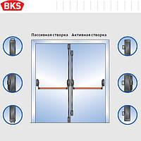 Антипаника для двухстворчатой двери 5-ю точками запирания без внешней наружной ручкой (G-U Германия)